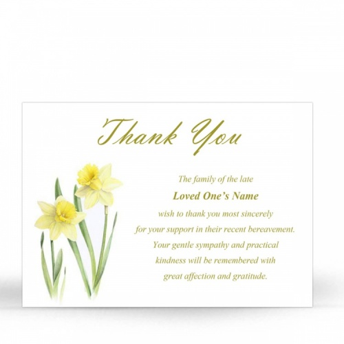 FLW80 Memorial Thank You Card