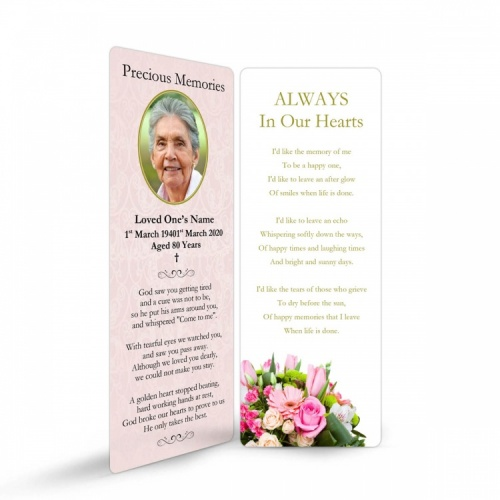 FLW81 Memorial Bookmark