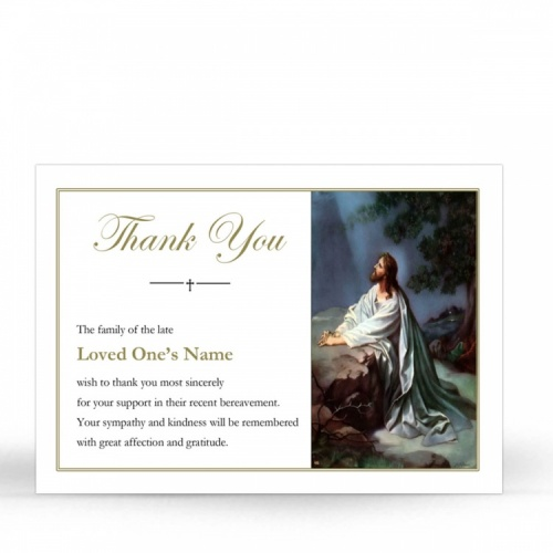 JC26 Memorial Thank You Card