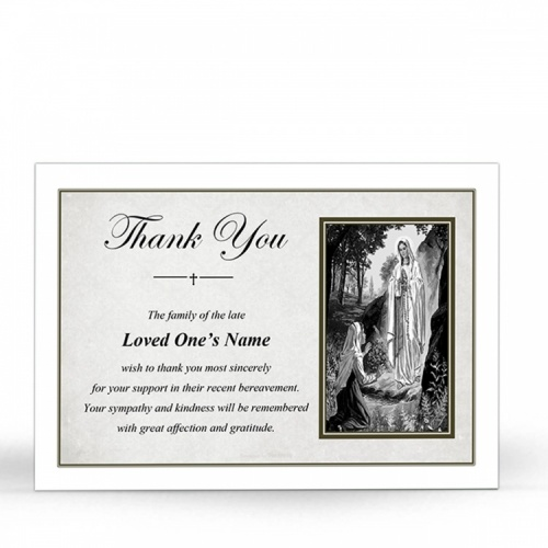 MARY48 Memorial Thank You Card