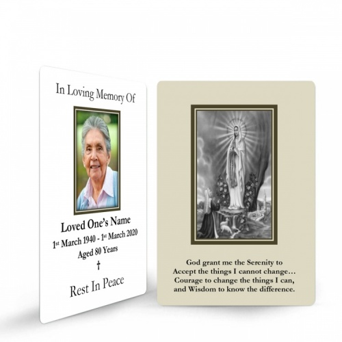 MARY51 Memorial Wallet Card