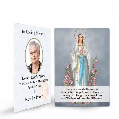 MARY52 Memorial Wallet Card