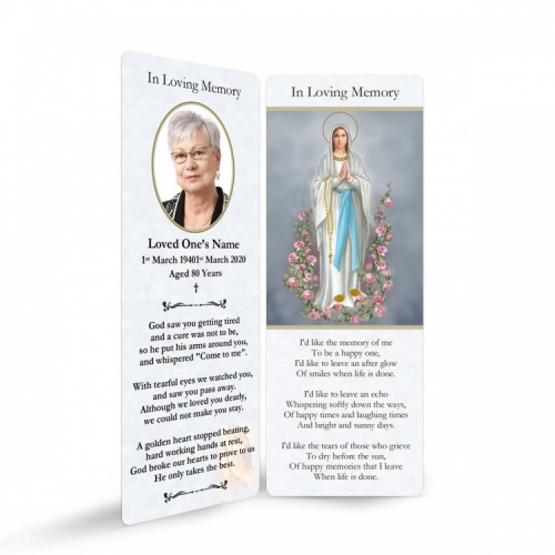 MARY52 Memorial Bookmark