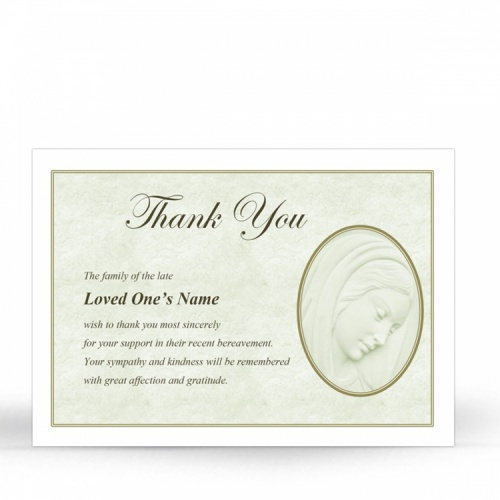 Our Lady Blessed Virgin Mary Religious Catholic Funeral Acknowledgement Card - MAR08