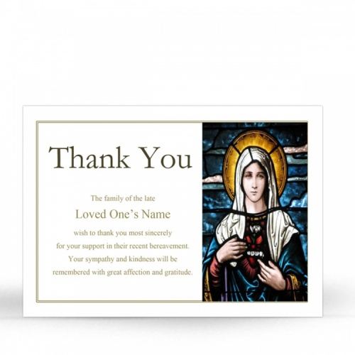 MAR12 Memorial Thank You Card
