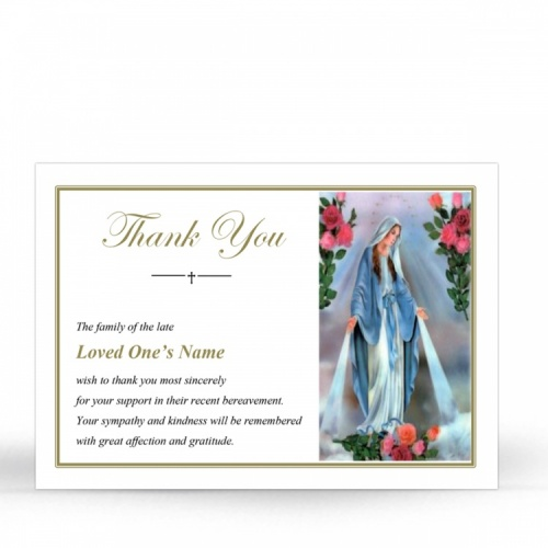 MAR14 Memorial Thank You Card