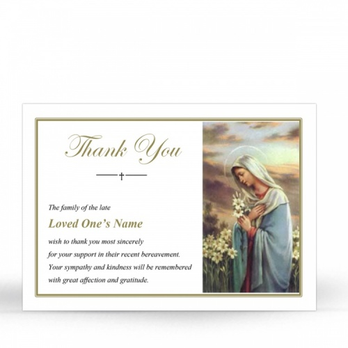 MAR19 Memorial Thank You Card