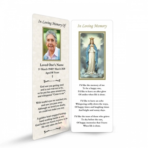 MAR20 Memorial Bookmark