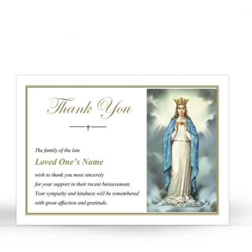 MAR20 Memorial Thank You Card