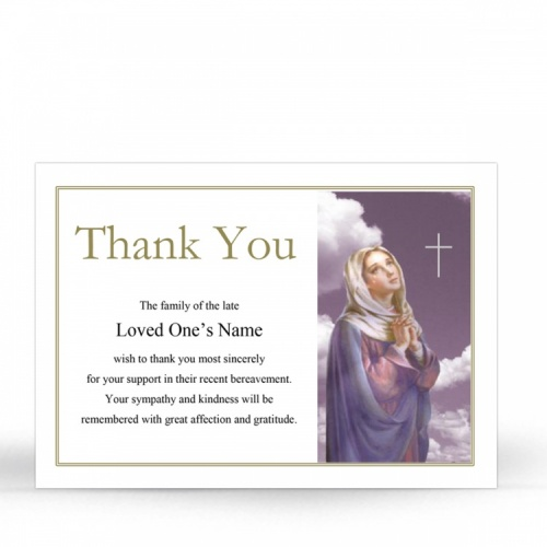 MAR22 Memorial Thank You Card