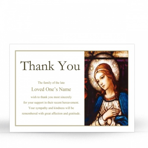MAR30 Memorial Thank You Card