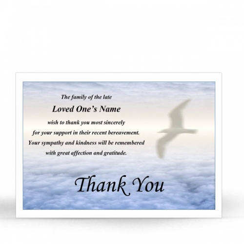 SCE03 Memorial Thank You Card