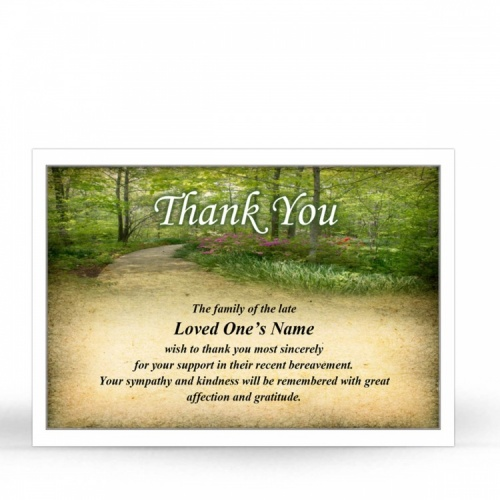 SCE38 Memorial Thank You Card
