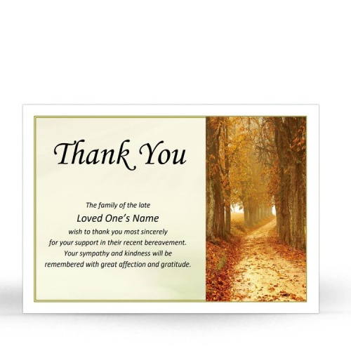 SCE72 Memorial Thank You Card