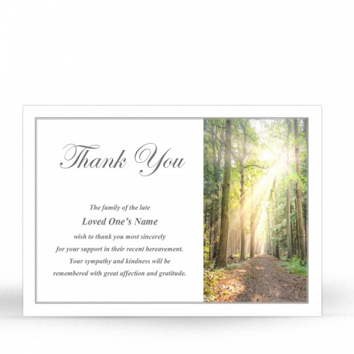 SCE77 Memorial Thank You Card