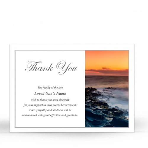 SCE81 Memorial Thank You Card