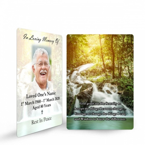 Online Memorial Holy Cards