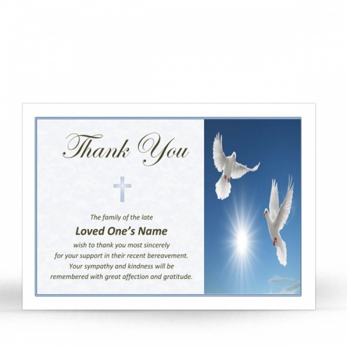 CRS33 Memorial Thank You Card