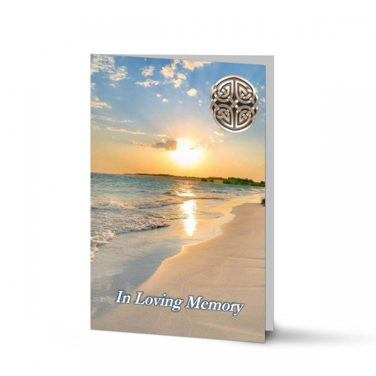Sunset Ireland Celtic Design Irish Funeral Memory Cards In Remembrance Folding Memorial Cards - CEL32