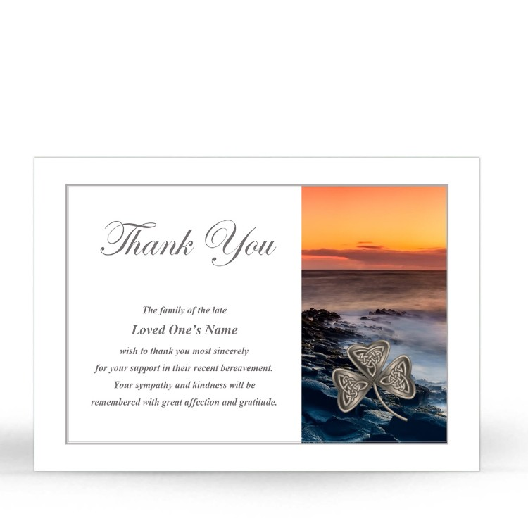 CEL73 Memorial Thank You Card