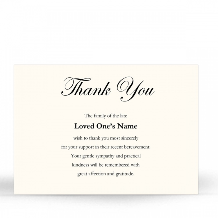 CLS07 Memorial Thank You Card