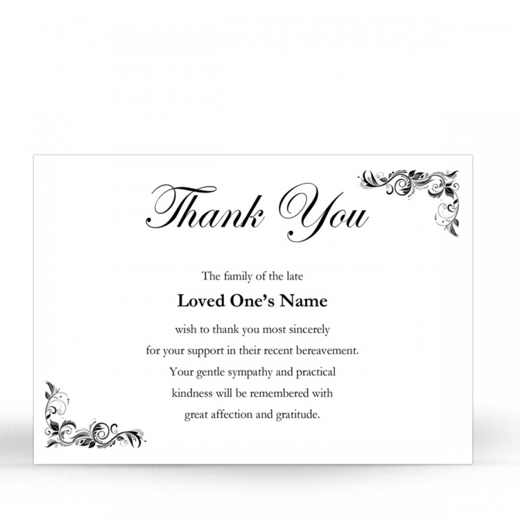 CLS10 Memorial Thank You Card