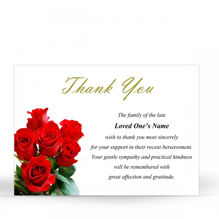 Flw04 Thank You Card Memorialcardshop Ie