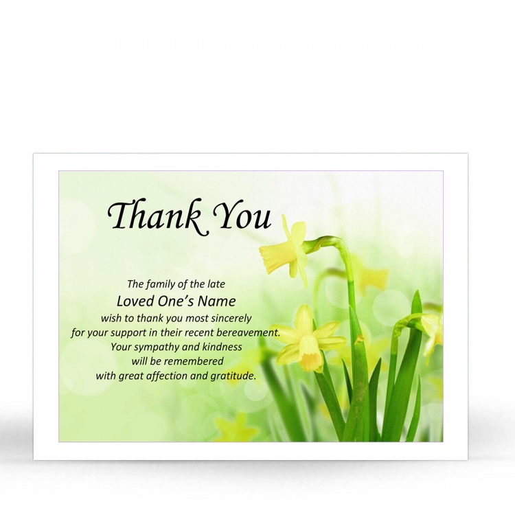 FLW114 Memorial Thank You Card