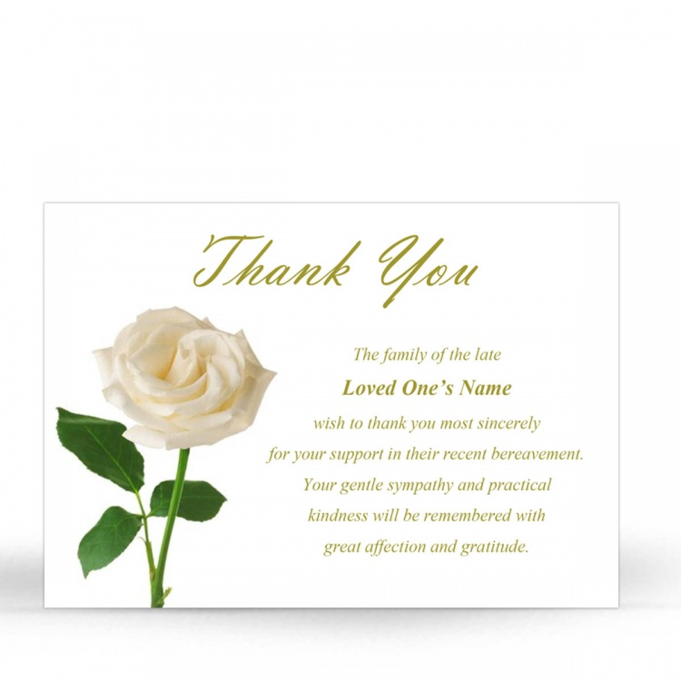FLW13 Memorial Thank You Card