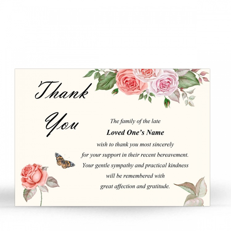 FLW49 Memorial Thank You Card