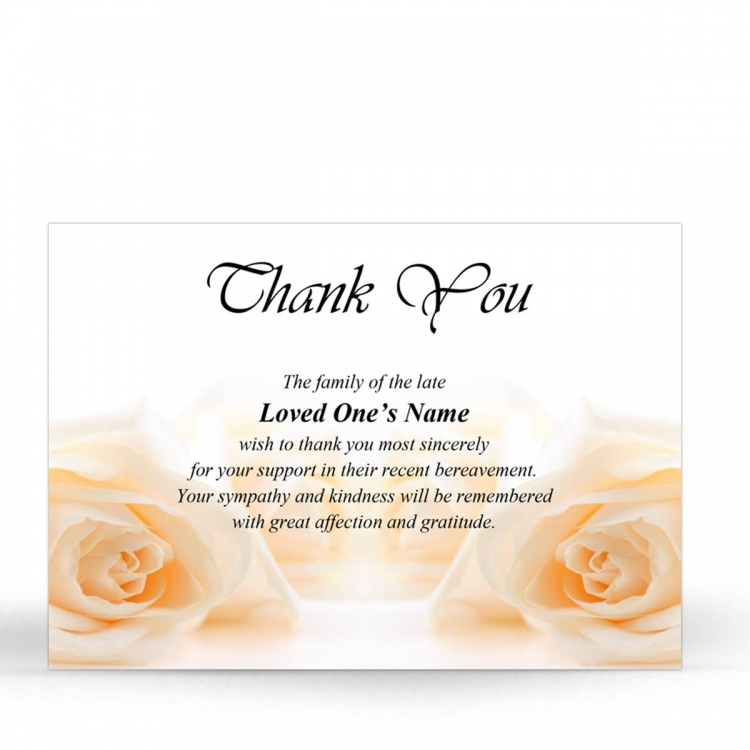 FLW61 Memorial Thank You Card