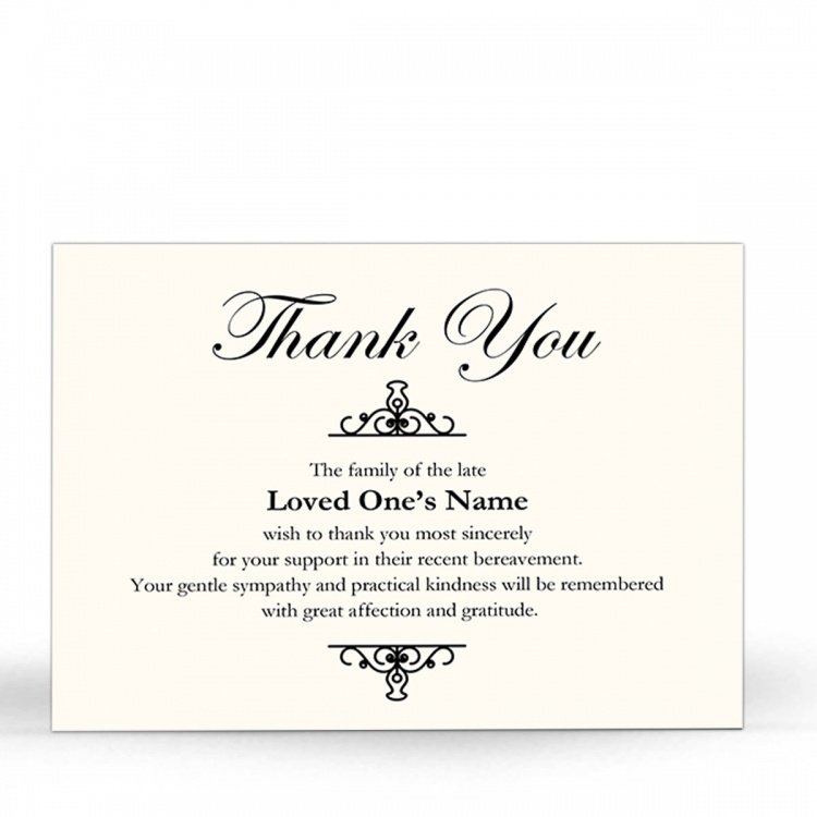 BES05 Memorial Thank You Card