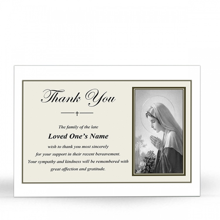 MARY44 Memorial Thank You Card