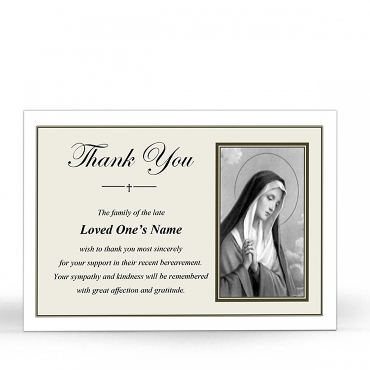 MARY47 Memorial Thank You Card