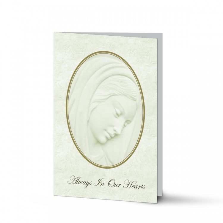 Our Lady Blessed Virgin Mary Religious Catholic Funeral Memorial Card - MAR08