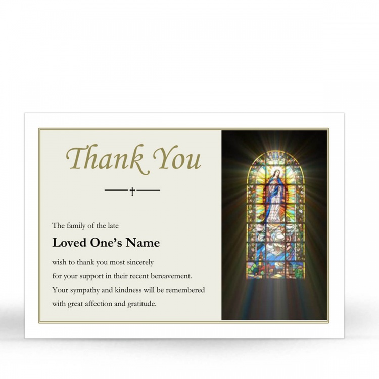 REG14 Memorial Thank You Card