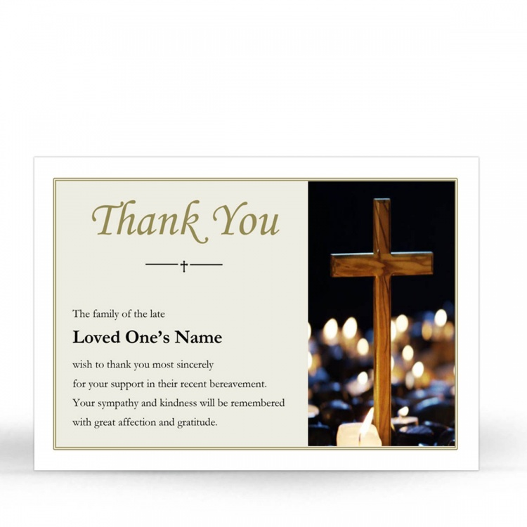 REG91 Memorial Thank You Card