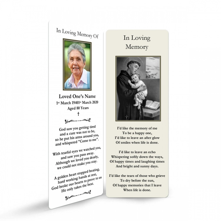 ST19 Memorial Bookmark