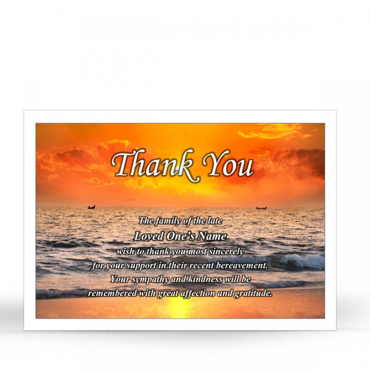 SCE09 Memorial Thank You Card