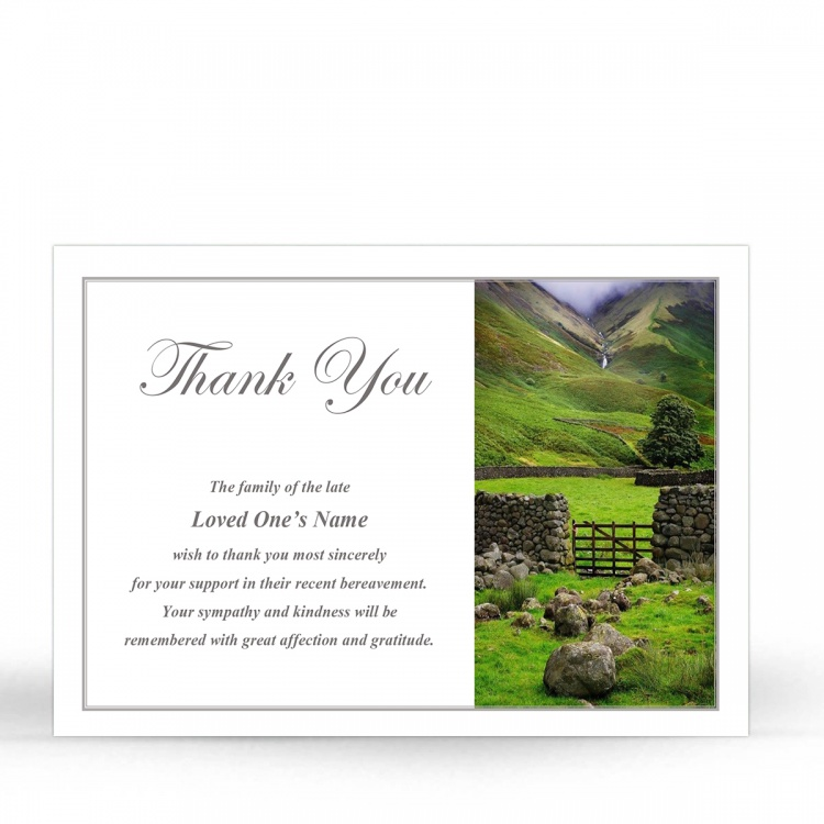 SCE97 Memorial Thank You Card