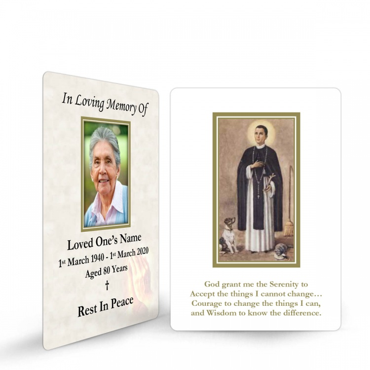 Saint Martin De Porres In Memorium Memorial Customised Wallet Card - ST15